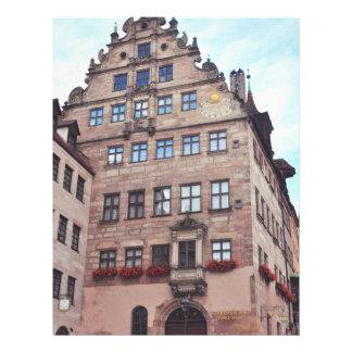 Het Museum Fembohaus, Nuremberg van de stad Gepersonaliseerde Folder