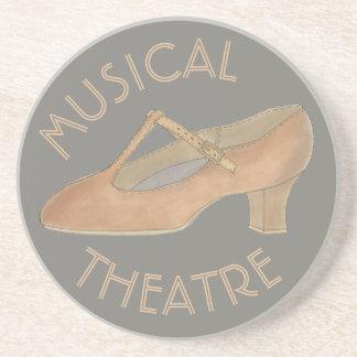 Het muzikale Tan van het Theater Theater van de Zandsteen Onderzetter