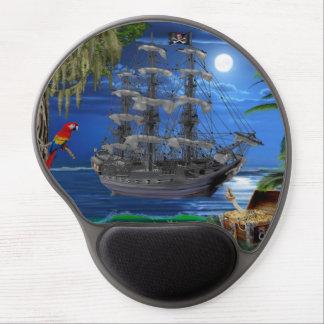 Het mystieke Maanbeschenen Schip van de Piraat Gel Muismat