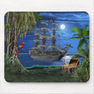Het mystieke Maanbeschenen Schip van de Piraat Muismatten