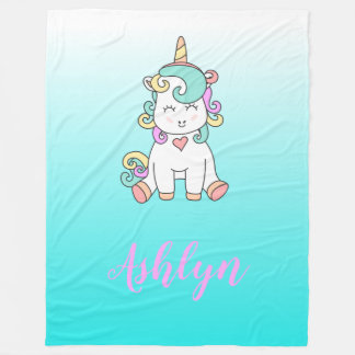Het mystieke Magische Gelukkige Pony van de Fleece Deken