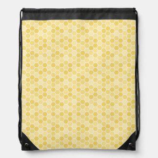 Het naadloze Patroon van de Kam van de Honing Trekkoord Rugzakje