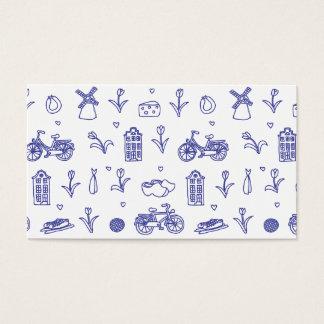 Het naadloze patroon van Holland Visitekaartjes
