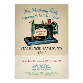 Het naaien de Uitnodiging van de Verjaardag naait