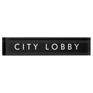 Het Naambord van de Hal van de stad