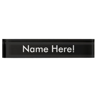 Het Naambord van het bureau
