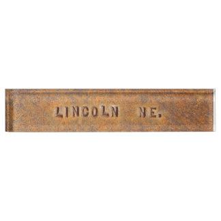 Het Naambord van het Bureau van Lincoln Nebraska