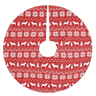 Het Napolitaanse Patroon van Kerstmis van de Kerstboom Rok