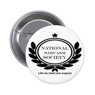 Het nationale Citaat van de Humor van de Ronde Button 5,7 Cm