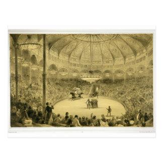 Het nationale die Circus, door Auguste aangestoken Briefkaart