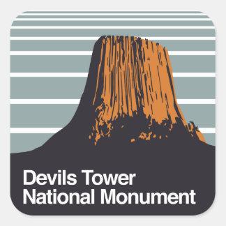 Het Nationale Monument van de Toren van duivels Vierkante Sticker