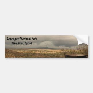 Het Nationale Park Tanzania, Afrika van Serengeti Bumpersticker