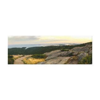 Het Nationale Park van Acadia - de Zonsondergang Canvas Print