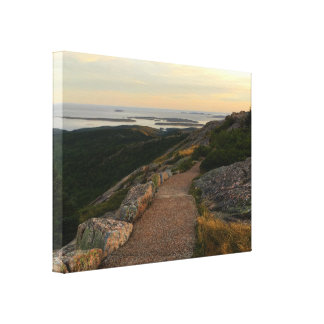 Het Nationale Park van Acadia - de Zonsondergang Canvas Prints