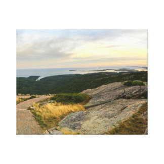Het Nationale Park van Acadia - de Zonsondergang Gallerij Wrapped Canvas