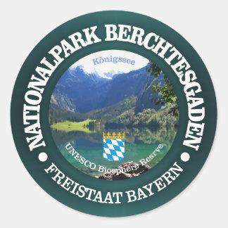 Het Nationale Park van Berchtesgaden Ronde Sticker