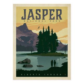 Het Nationale Park van de jaspis, Alberta Canada Briefkaart