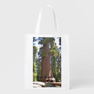 Het Nationale Park van de sequoia Herbruikbare Boodschappentas