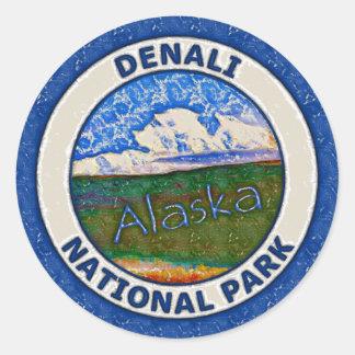 Het Nationale Park van Denali, Alaska Ronde Sticker