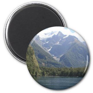 Het Nationale Park van Fiordland, Nieuw Zeeland Ronde Magneet 5,7 Cm