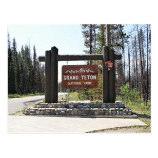 Het Nationale Park van Grand Teton, het Nationale Briefkaart