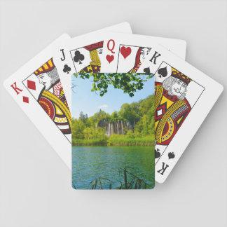 Het Nationale Park van Plitvice in Kroatië Pokerkaarten