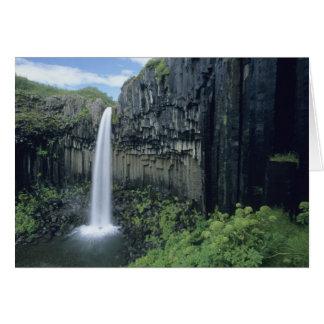 Het Nationale Park van Skaftafell, waterval Kaart