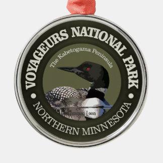 Het Nationale Park van Voyageurs (Duiker) Zilverkleurig Rond Ornament