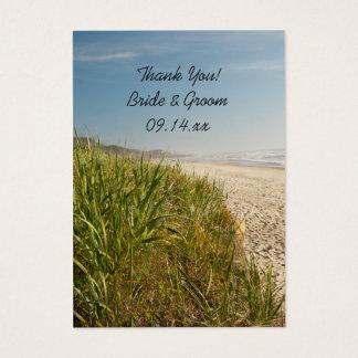 Het natuurlijke Huwelijk van het Strand dankt u Visitekaartjes