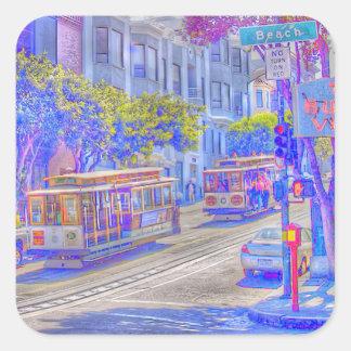 Het neon van San Francisco Vierkante Sticker