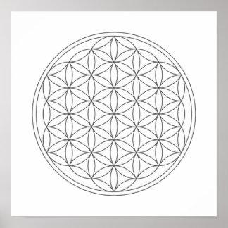 Het Net van het kristal - Bloem van het Leven Poster