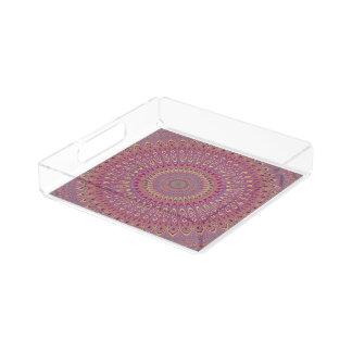 Het netmandala van de hippie acryl dienblad