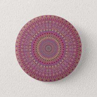 Het netmandala van de hippie ronde button 5,7 cm
