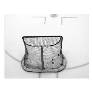 Het netto briefkaart van het hockey