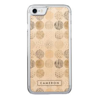 Het neutrale Abstracte Patroon van de Cirkel Carved iPhone 8/7 Hoesje