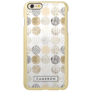 Het neutrale Abstracte Patroon van de Cirkel Incipio Feather® Shine iPhone 6 Plus Hoesje