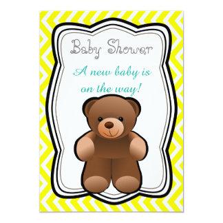 Het Neutrale Baby shower van de teddybeer Kaart