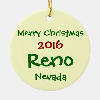 HET NIEUWE 2016 RENO NEVADA VROLIJKE ORNAMENT VAN