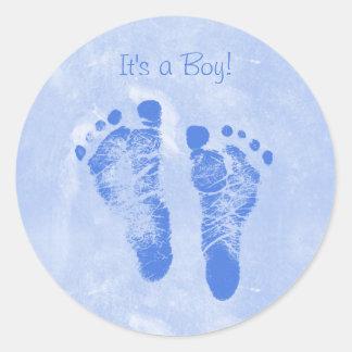 Het Nieuwe Baby Annoucements van de leuke van de Ronde Sticker