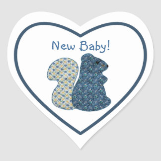 Het Nieuwe Baby van de leuke van het Land Eekhoorn Hartvormige Sticker