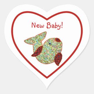 Het Nieuwe Baby van de leuke van het Land van de Hart Sticker