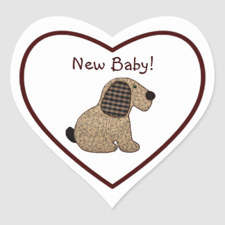 Het Nieuwe Baby van de leuke van het Land van de Hart Stickers