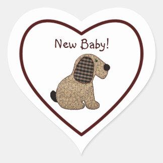 Het Nieuwe Baby van de leuke van het Land van de Hartvormige Sticker