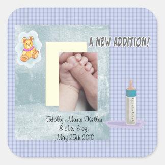Het nieuwe Baby van de Toevoeging Vierkant Stickers