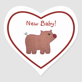 Het Nieuwe Baby van het leuke van het Land van de Hartvormige Stickers