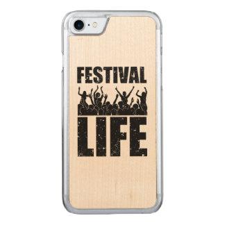 Het nieuwe LEVEN van het FESTIVAL (blk) Carved iPhone 8/7 Hoesje