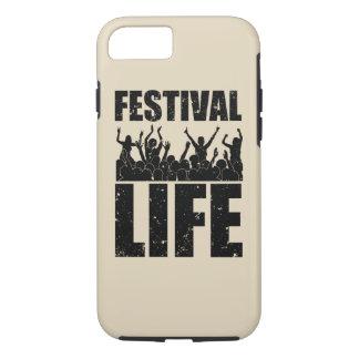 Het nieuwe LEVEN van het FESTIVAL (blk) iPhone 8/7 Hoesje