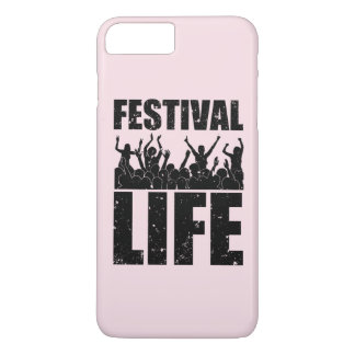 Het nieuwe LEVEN van het FESTIVAL (blk) iPhone 8/7 Plus Hoesje