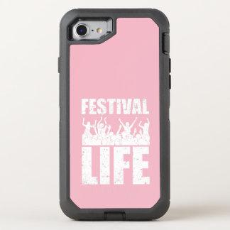 Het nieuwe LEVEN van het FESTIVAL (wht) OtterBox Defender iPhone 8/7 Hoesje