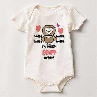 Het nieuwe Roze van de Harten van de Uil van de Baby Shirt
